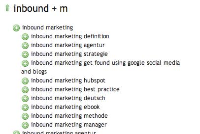 Inbound Marketing Ubersuggest
